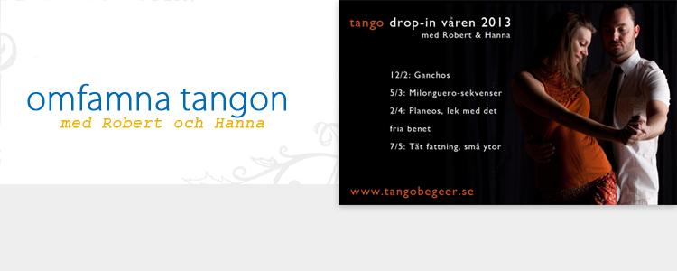 drop-in klasser med Robert Blomgran och Hanna Julinder