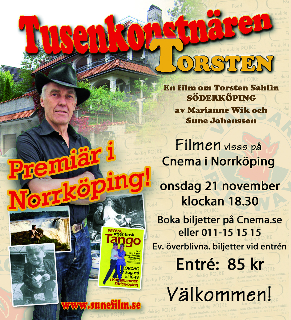 annons för filmen om tusenkonstnären Torsten